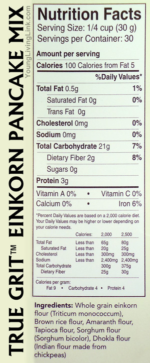 Einkorn Pancake Mix Ingredients