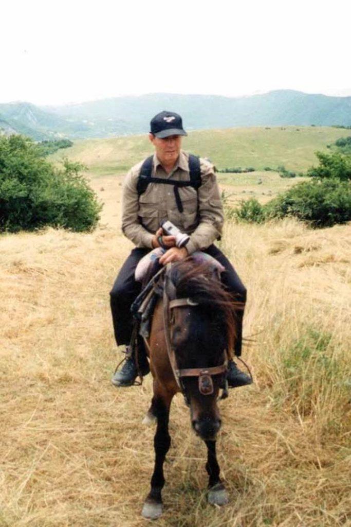 Gary Young in Azerbaijan 2001
