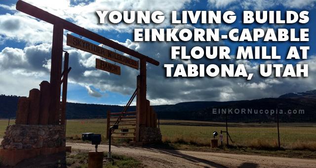 Einkorn Flour Mill in Tabiona, Utah