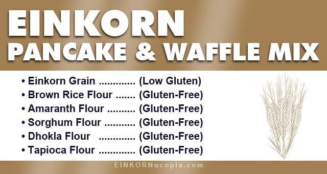 Low Gluten Pancake Mix