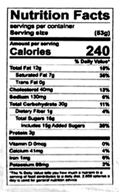 Einkorn Chocolate Chip Cookies Nutrition Facts