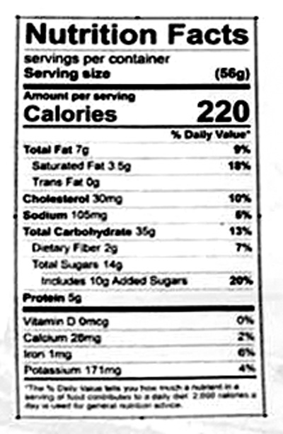 Oatmeal Raisin Cookies Nutrition Facts